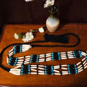 Accessories - GORGEOUS Rope Bead BELT Southwestern Turquoise
